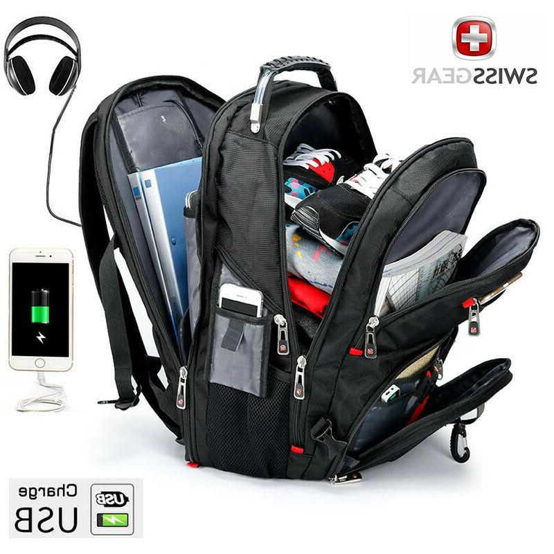 multifunctional 17 laptop backpack usb charged travel