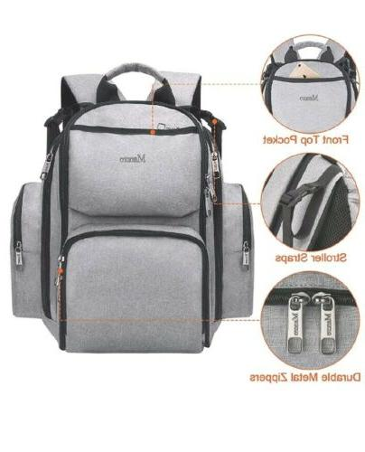 NEW!! MANCRO DIAPER LAPTOP BACKPACK-WATER RESISTANT