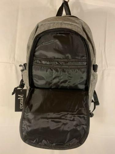 Mancro New Laptop Backpack With Secure Lock Charger