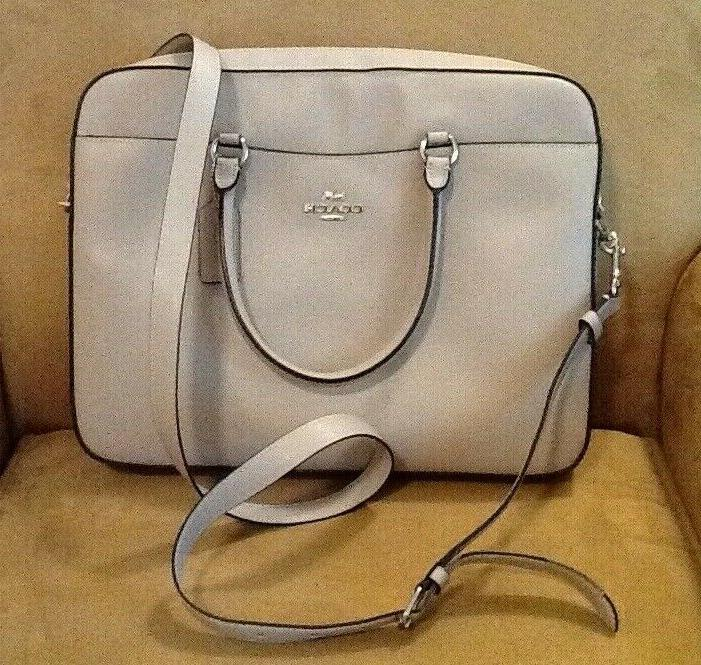 NWT LEATHER LAPTOP BAG IN - F39022