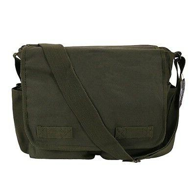 Olive Military Heavyweight Shoulder Laptop Bags