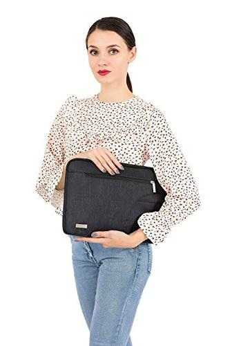 MOSISO Laptop Compatible 15-15.6 Inch MacBook Polyester Protective Carrying Handbag Sleeve Cover,