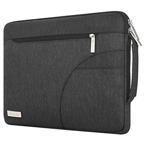 MOSISO Shoulder Compatible 15-15.6 Inch Pro, Ultrabook Polyester Protective Carrying Handbag Sleeve Cover, Black