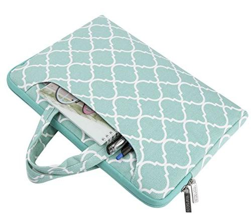 MOSISO Compatible Pro, Tablet, Quatrefoil Carrying Handbag Cover,