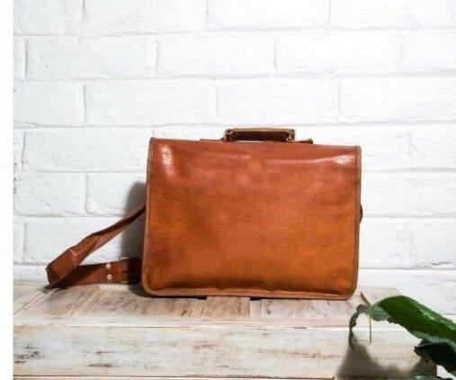 Reliable Men's Real Brown Laptop Bag computer