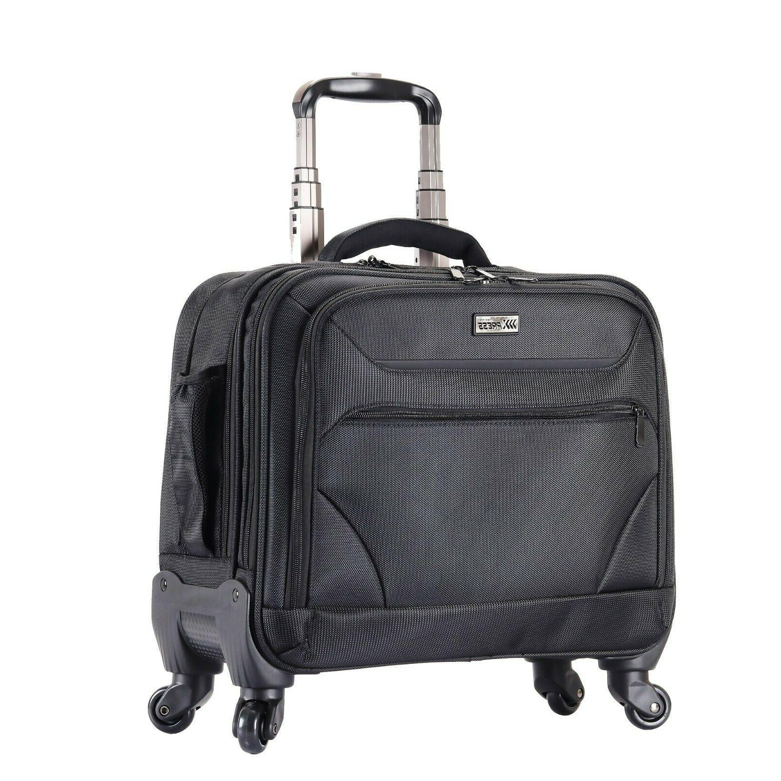 rolling briefcase on 4 wheels rolling laptop