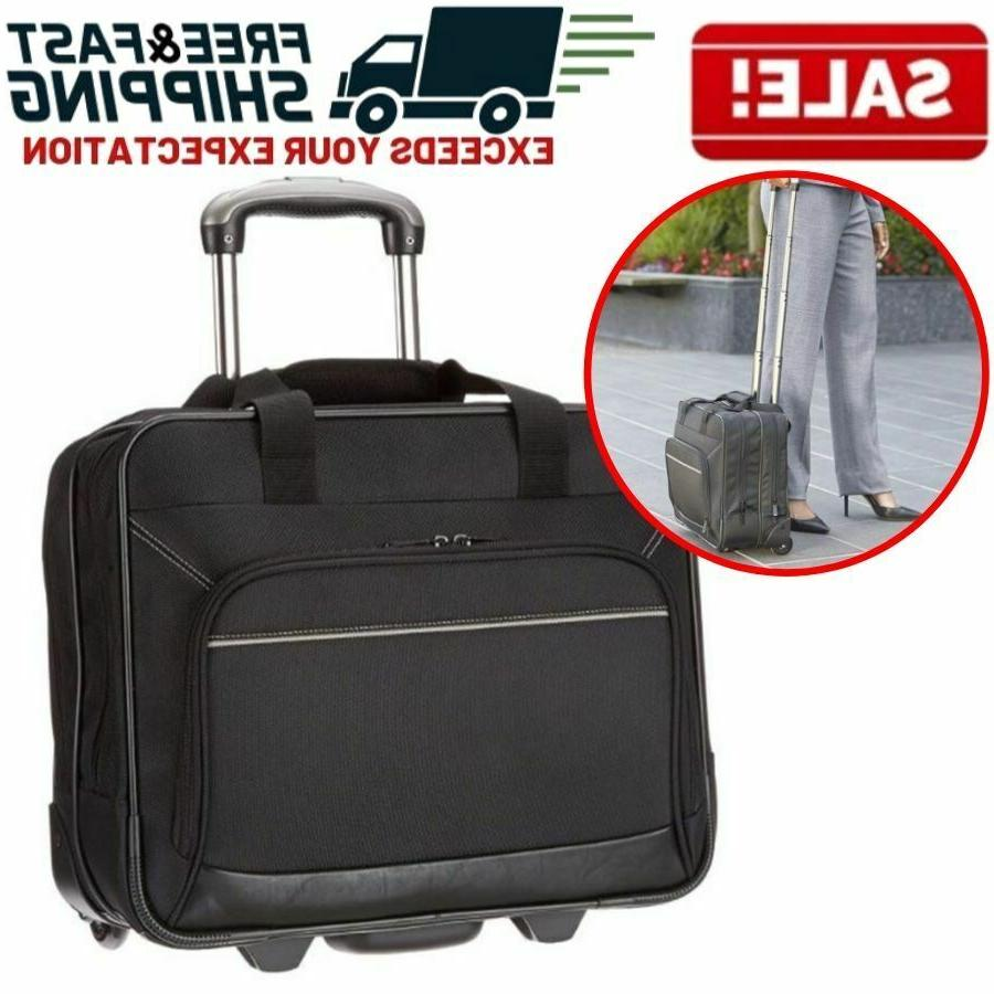 rolling wheeled laptop bag computer case business