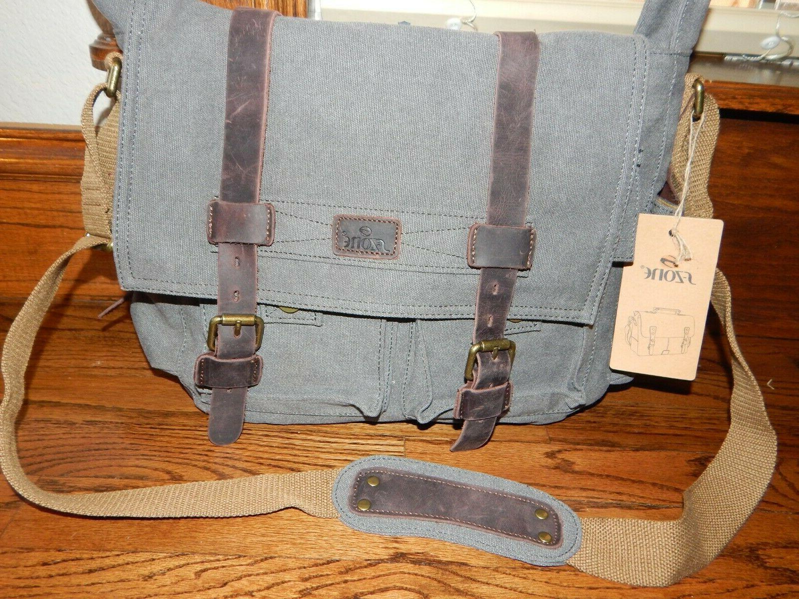s zone vintage style canvas and leather