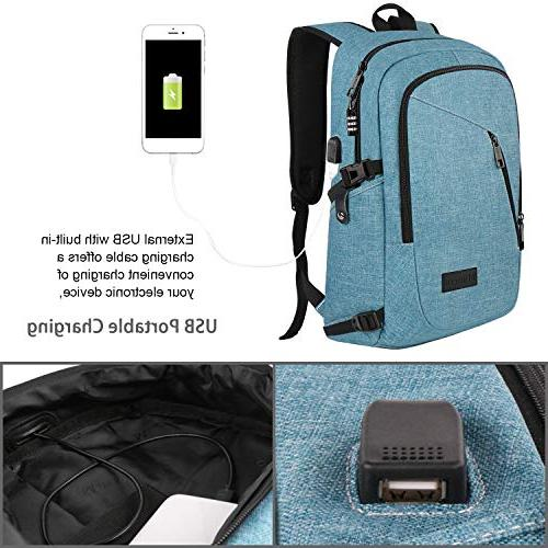 """School for Anti Backpack with USB Water On Rucksack Campus 15.6"""""""