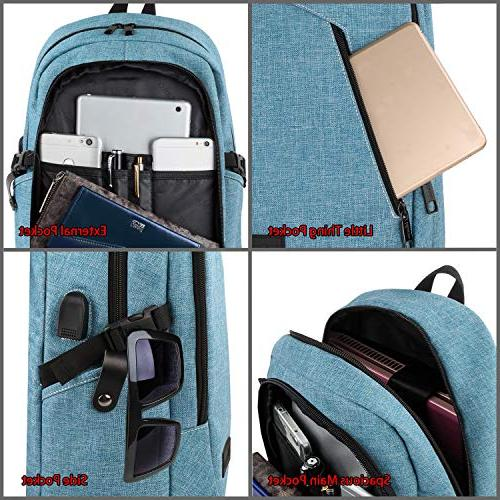 School Backpack Women, Anti Student Backpack with USB Water Sturdy Campus Fit Computer