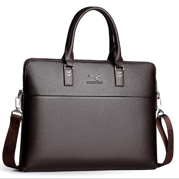 TIANHONGDAISHU Men <font><b>Business</b></font> Shoulder Leather <font><b>Bags</b></font> Computer Laptop Handbag Men's