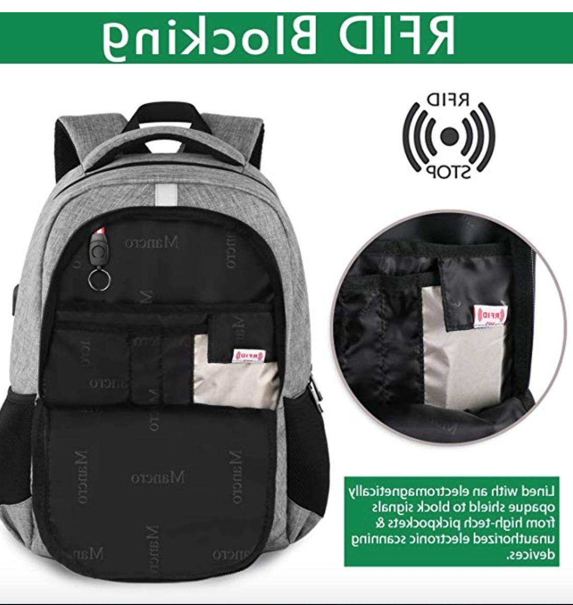 Travel Anti Book Bag with USB Port