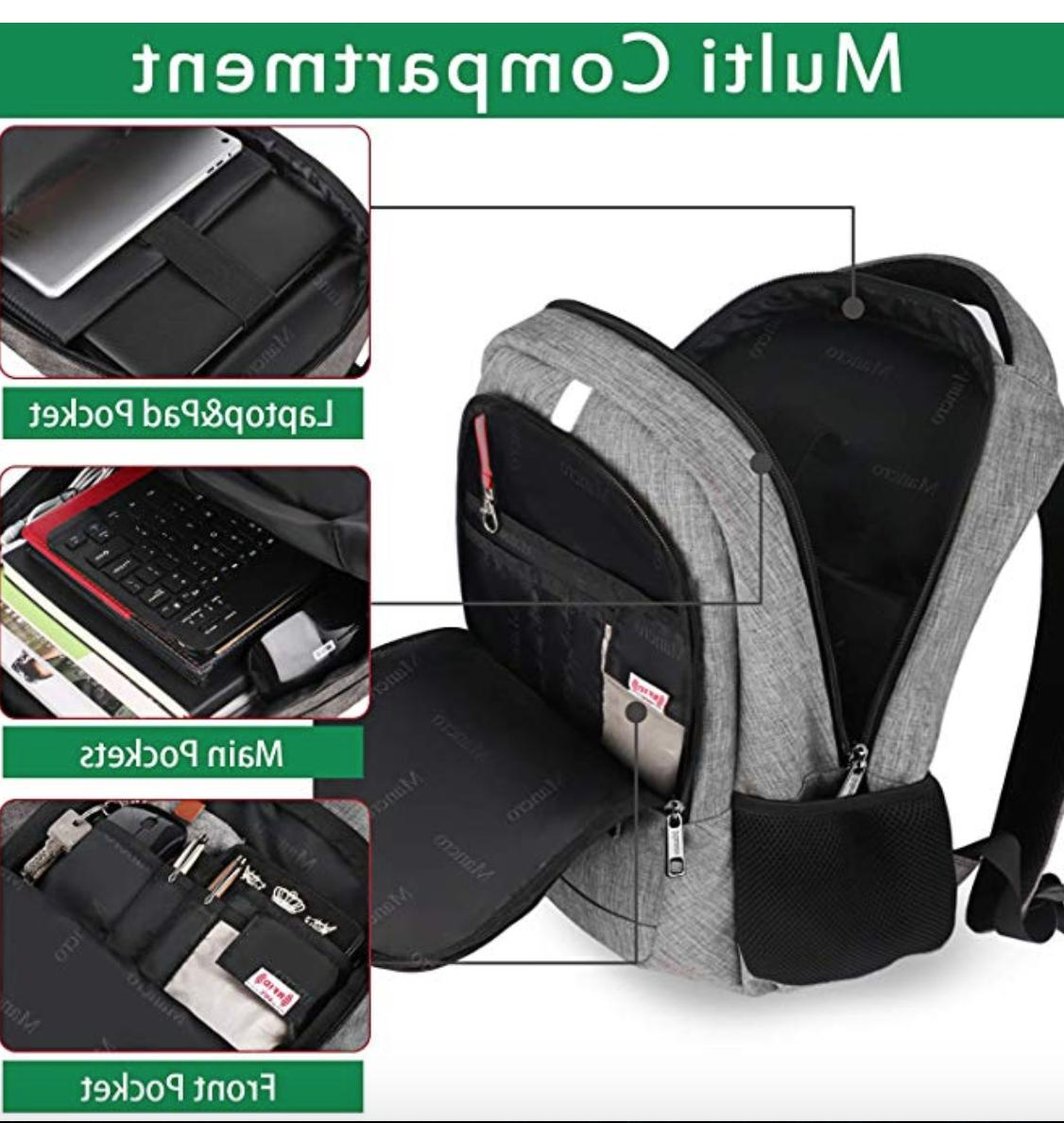 Travel Backpack Anti Theft Book with USB Port