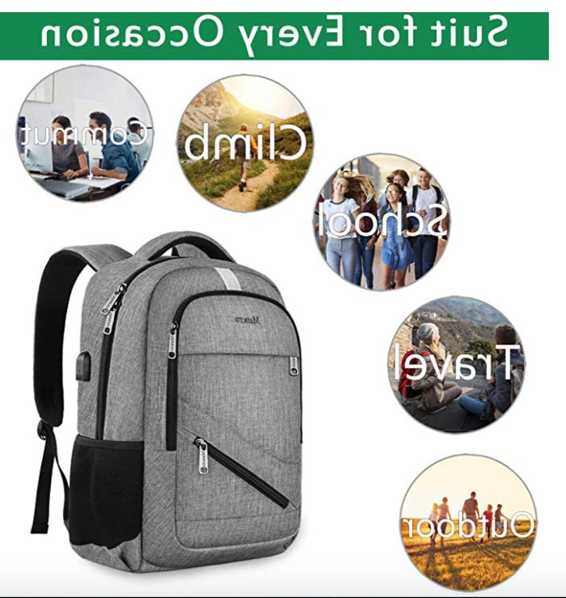 Travel Backpack Anti Theft Business College Book Port