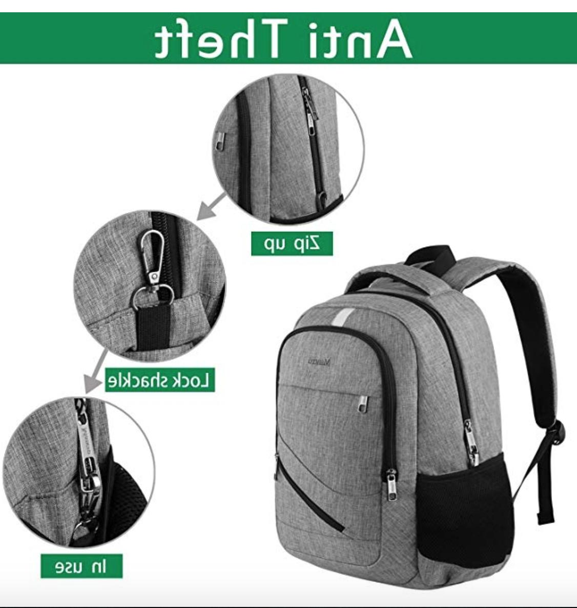 Travel Backpack Anti Theft College Book Port