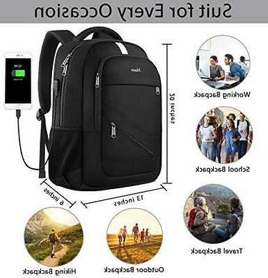 Mancro Travel Laptop Backpack w/ Security Blocking System Port