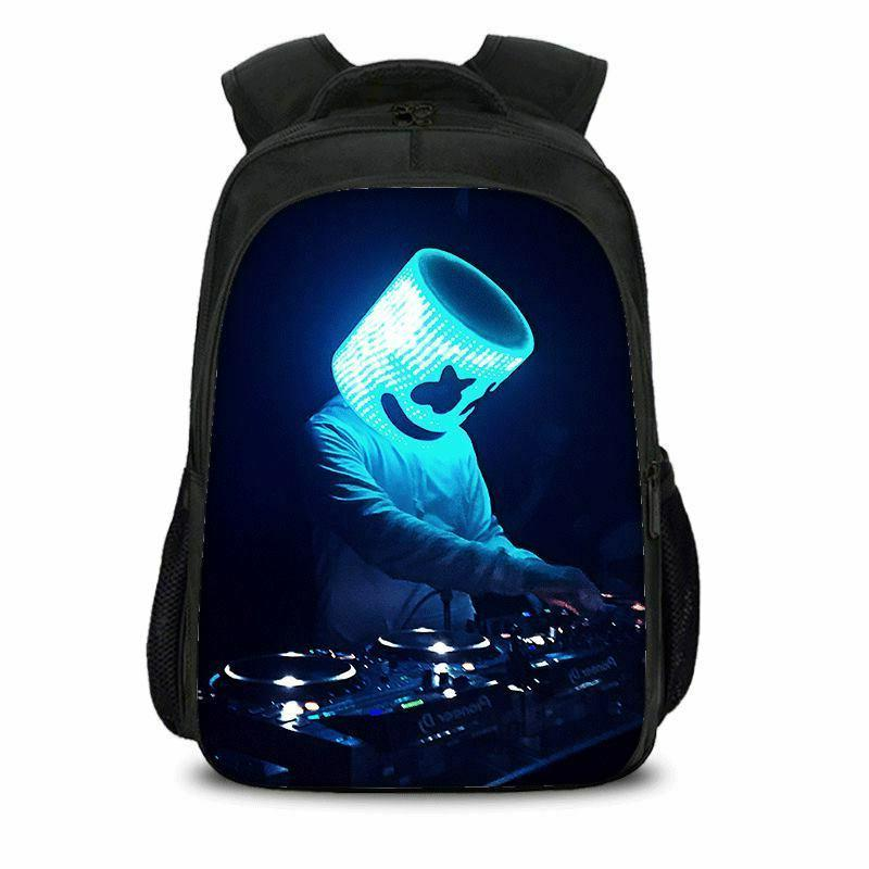 US Ship Marshmello Backpack Schoolbag Marshmallo Laptop Travel
