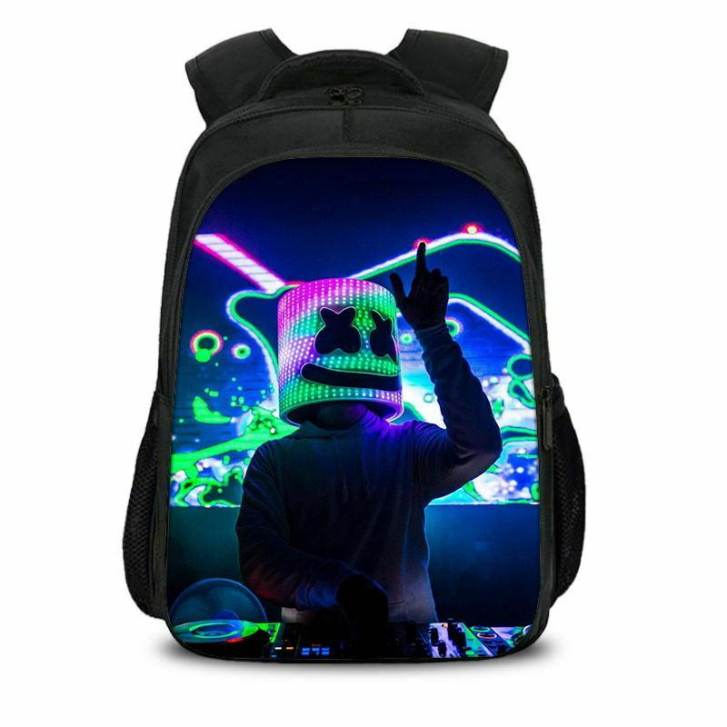 US Ship Marshmello DJ Backpack Unisex Laptop Travel