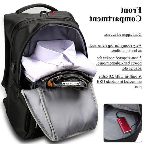 DTBG Laptop Nylon Shoulders Bag USB