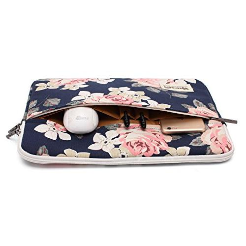 Canvaslife White Rose Laptop Sleeve inch 14.0 Bag