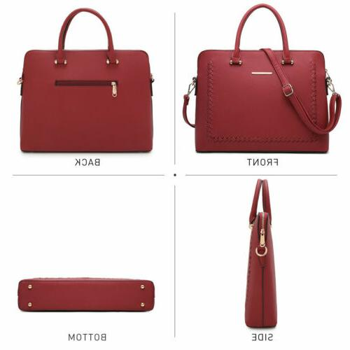 Women Handbag Laptop Top Handles Work Bag Shoulder Briefcase