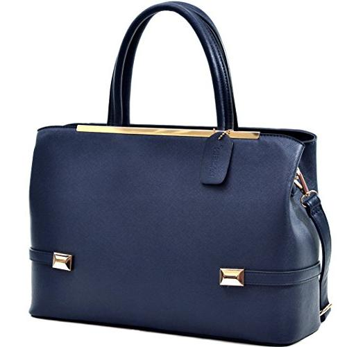 women leather tote briefcase laptop