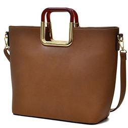 Lady Large Designer Tote Bags for Women Vegan Leather Should