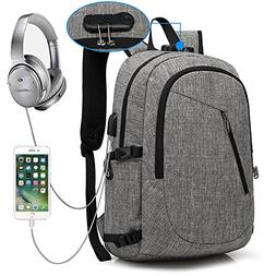 XQXA Laptop Backpack, Anti Theft Backpack with USB Charging