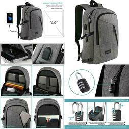 Laptop Backpack, Business Anti Theft Travel Computer Bag For