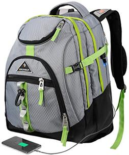 Travel Laptop Backpack,College School Backpack With USB Char