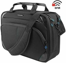 "Laptop Bag 15.6"" Briefcase Messenger Water Repellent Compute"