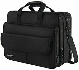 Mens Briefcase, 17 inch Laptop Bag, Expandable Large Capacit
