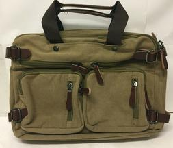 Clean Vintage Laptop Bag Hybrid Messenger Bag Convertible Br