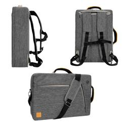 Gray Laptop Messenger Bag Backpack for iPad Pro 12.9 / Micro