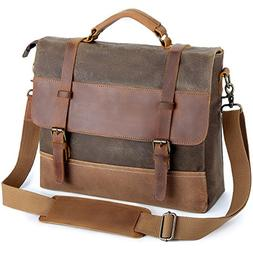 Laptop Messenger Bags 13.5 Inch, Tocode Water Resistant Vint