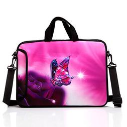 15.6-Inch Laptop Shoulder Bag Case Sleeve With Handle and ex