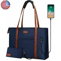 Laptop Tote Bag for Women Teacher Work Office USB Bags Fits