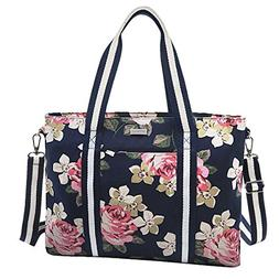 MOSISO Laptop Tote Bag , Canvas Classic Rose Multifunctional