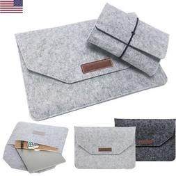 Laptop Wool Felt Sleeve Case Cover Bag For Apple Mac Air Mac