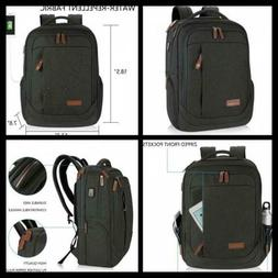 """Large Laptop Backpack 17.3"""" with USB Charging Port Water Rep"""