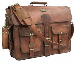 Large Handmade Vintage Leather Messenger Laptop Briefcase Ba