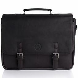 "Hammer Anvil Leather Briefcase up to 15.6"" Laptop Case Mes"