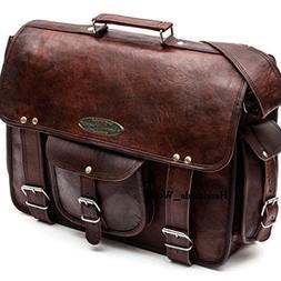 Leather Computer Bag Men's Shoulder Laptop Women Messenger B