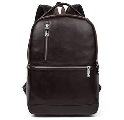 BOSTANTEN Leather Laptop Backpack Travel Casual Bag Daypack