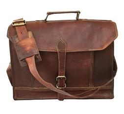 Gbag  Leather 14 Inch Retro Leather Briefcase Laptop Messeng