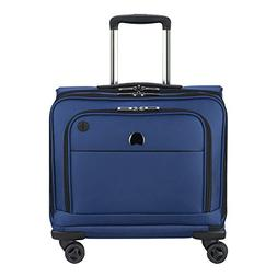 Delsey Luggage 4 Wheel Spinner Mobile Laptop Briefcase, Blue