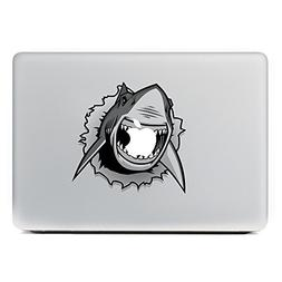 GTNINE MacBook Stickers Angry Shark Sticker MacBook Decals L