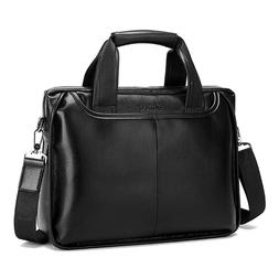 Osmond Men Genuine Leather Handbags Casual Leather Laptop <f