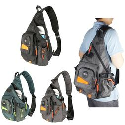 Men's Women's Large Canvas Nylon Laptop Sling Bag Backpack S