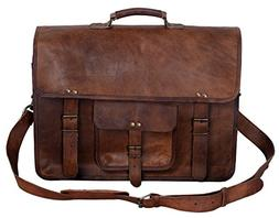 Komal's Passion Leather 18 Inch Men's Vintage Leather Briefc